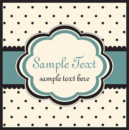 vintage baby: Template frame design for greeting card