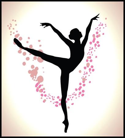 ballet dancer silhouette: ballet dancer