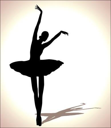dancer silhouette: ballet dancer