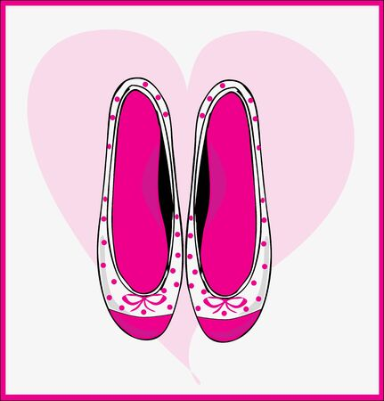 women shoes, flat, ballerina  Stock Vector - 18759565