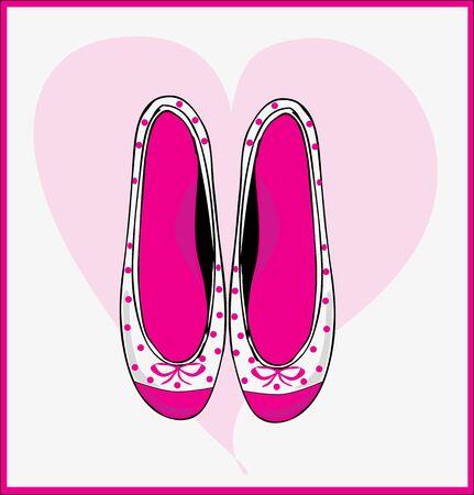 women shoes, flat, ballerina Stock Vector - 18759565