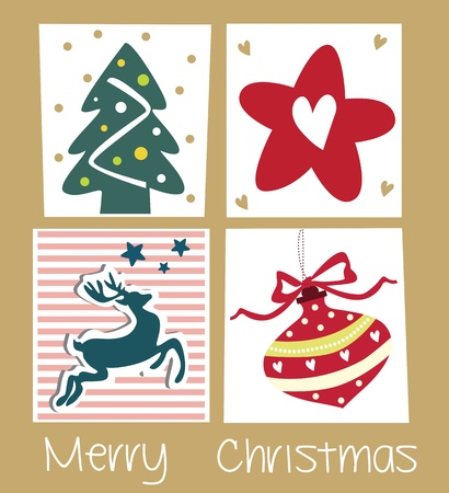 cute christmas cards Stock Vector - 18760152