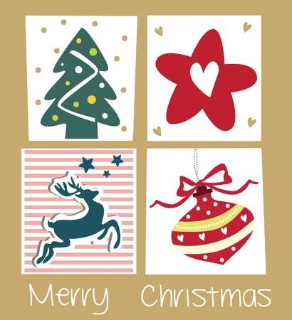 cute christmas cards Stock Vector - 18760152