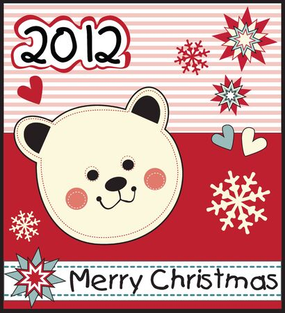 funny Christmas kids card Vector