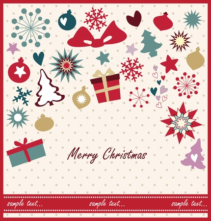 Christmas greeting card design Stock Vector - 18760177