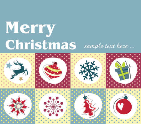 Set of christmas cards Stock Vector - 18760181