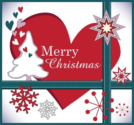 Christmas greeting card illustration Stock Vector - 18760159