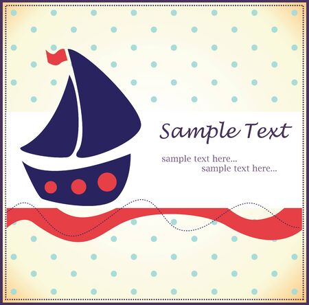 beauty birthday: baby background with a boat