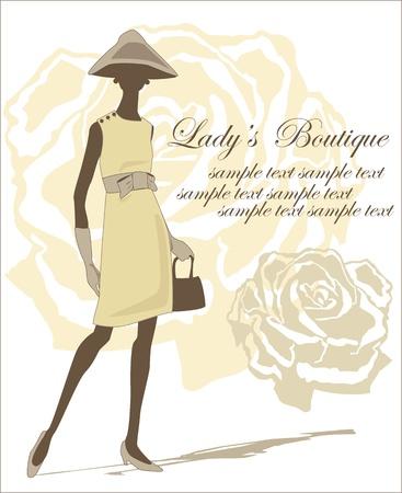 catwalk model: silhouette donna su sfondo rosa