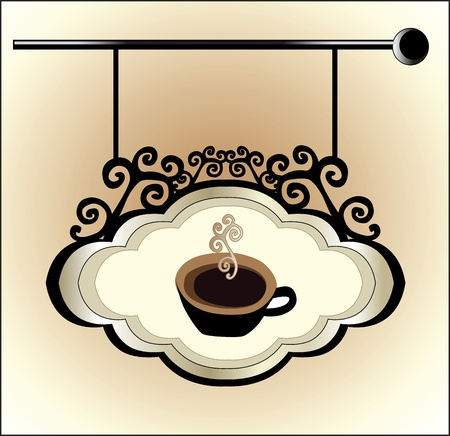 coffee vintage sign Stock Vector - 18760248