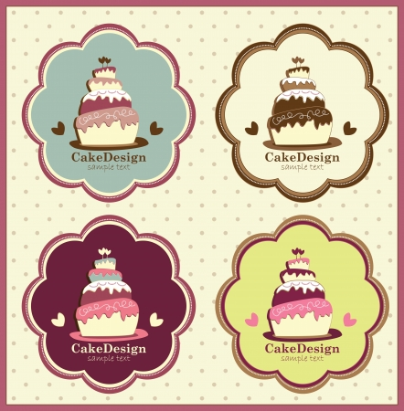 cake banners Vector