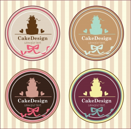 wedding cake: cake banners