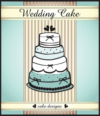 wedding cake Vector