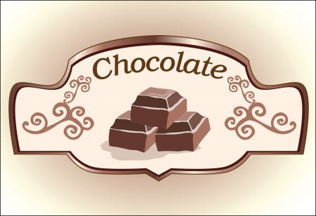 chocolate label design Vector