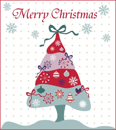 Christmas tree illustration Stock Vector - 18760296