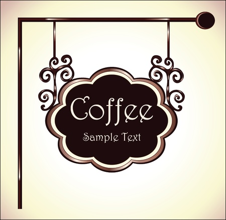 coffee sign Stock Vector - 18760261