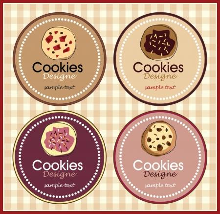 chocoladekoekje set van banners Stock Illustratie