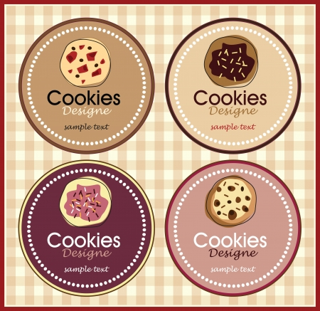 holiday cookies: chocolate cookie set of banners Illustration