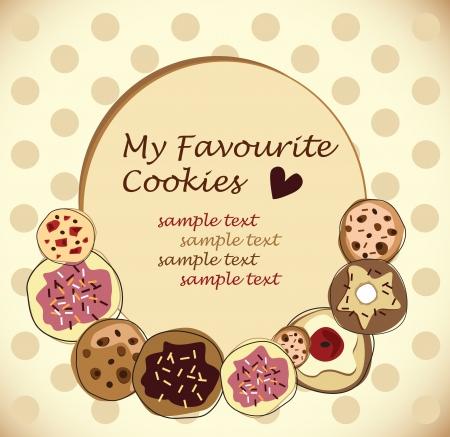 holiday cookies: galletas Vectores