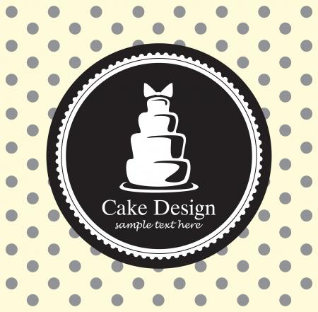wedding cake illustration: cake design