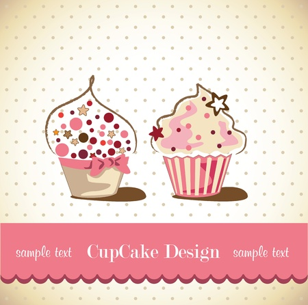 Cupcake Card Stock Vector - 18760294