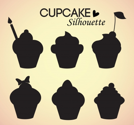 piece of cake: Set of cupcake silhouettes
