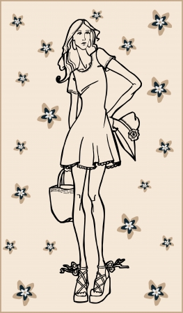 fashion girl Stock Vector - 18760273