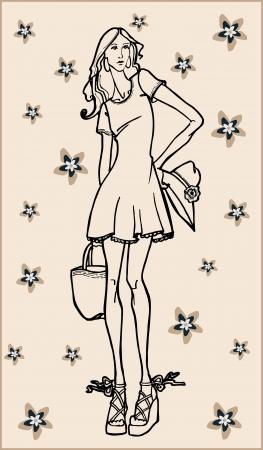fashion girl Stock Vector - 18760273