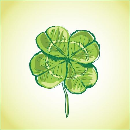 goodluck: four leaf clover Illustration