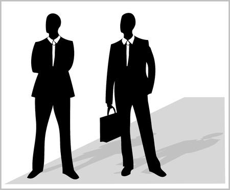 secret service: business men  Illustration