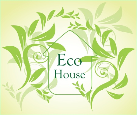 green ecology house Vector