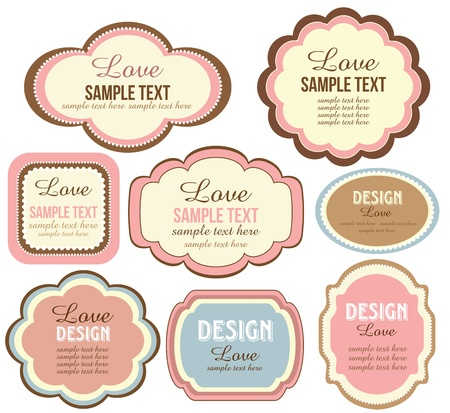 cute text box: cute scrapbook set of elements