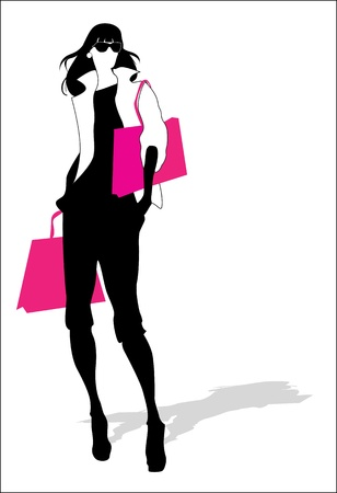 Woman fashion silhouette  Иллюстрация