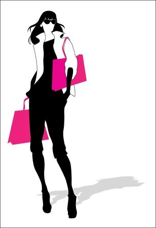 purse: Woman fashion silhouette  Illustration