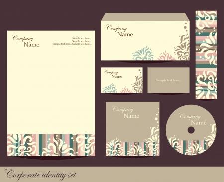 personalausweis: Corporate Identity Kit oder Business Kit mit k�nstlerischen Element f�r Ihr Unternehmen beinhaltet CD Cover, Visitenkarte, Umschlag und Brief Leiter Designs