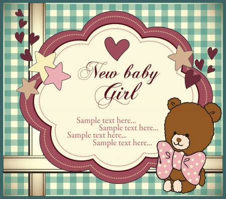 Baby girl invitation Vector
