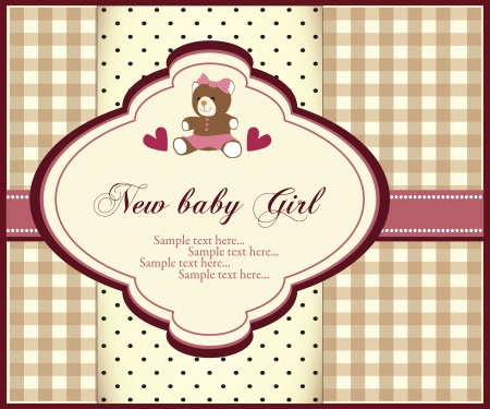 baby announcement card: Baby girl invitation