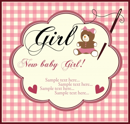 Baby girl invitation Stock Vector - 18794582