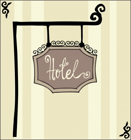 Hotel sign Stock Vector - 18794524