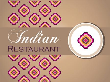 indian meal: restaurant menu design Illustration