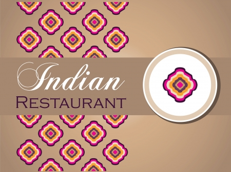 food dish: restaurant menu design Illustration