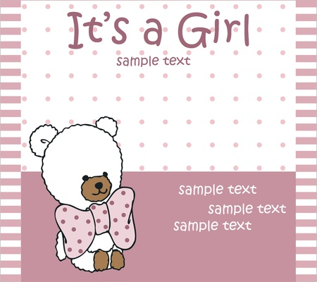 baby girl arrival card Stock Vector - 18794528