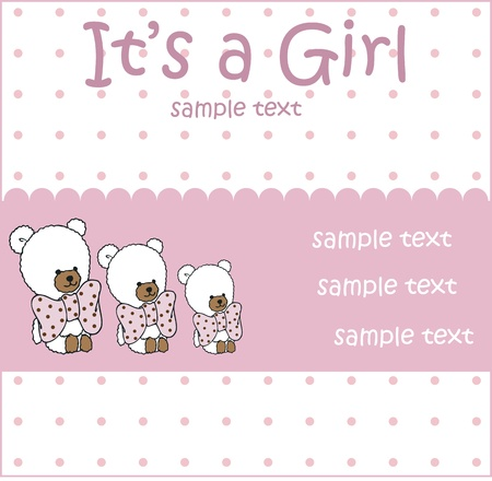 baby girl arrival: baby girl arrival card