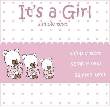 sweet baby girl: baby girl arrival card