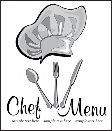 restaurant menu with chef hat Stock Vector - 18794618