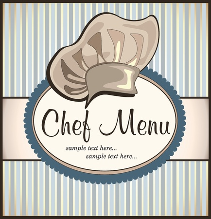 restaurant menu with chef hat Stock Vector - 18794773