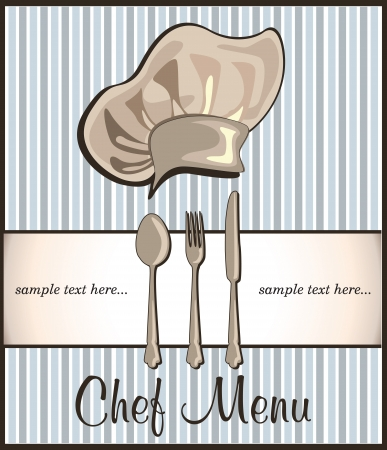 restaurant menu with chef hat Stock Vector - 18794668