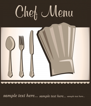 restaurant menu with chef hat Stock Vector - 18794644