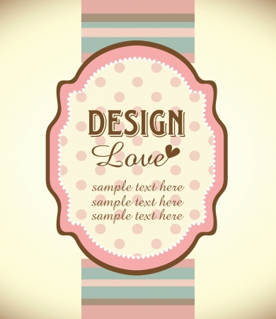 striped: greeting card template design