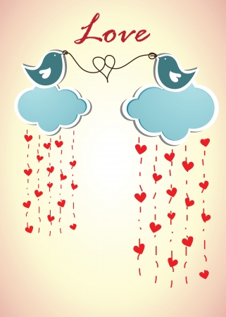 love template with two birds